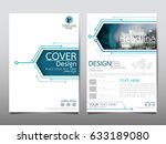 blue flyer cover business... | Shutterstock .eps vector #633189080