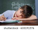 young caucasian boy is having... | Shutterstock . vector #633191576