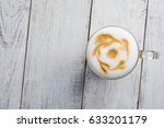 latte macchiato coffee on white ... | Shutterstock . vector #633201179