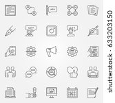 blogging icons set   vector... | Shutterstock .eps vector #633203150