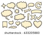 set speech and thought bubbles. ... | Shutterstock .eps vector #633205883