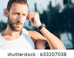 fit confident sportsman... | Shutterstock . vector #633207038