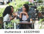 pretty african american woman... | Shutterstock . vector #633209480
