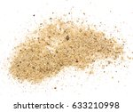 pile of sand isolated on white... | Shutterstock . vector #633210998