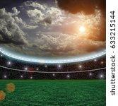 soccer stadium and beautiful... | Shutterstock . vector #633215144