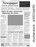 newspaper. vector template with ... | Shutterstock .eps vector #633216650