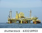 the offshore oil rig in the... | Shutterstock . vector #633218903