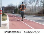 sport. runner is running on red ... | Shutterstock . vector #633220970