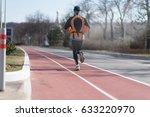sport. runner is running on red ... | Shutterstock . vector #633220970