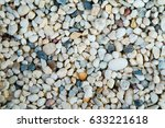pebble stone background river... | Shutterstock . vector #633221618