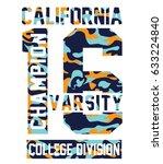 california beach typography... | Shutterstock .eps vector #633224840