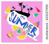 summer time vector banner... | Shutterstock .eps vector #633227450
