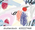 watercolor brush strokes with... | Shutterstock .eps vector #633227468