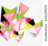 3d triangles and pyramids ... | Shutterstock .eps vector #633229070