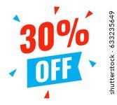 30  off. flat vector... | Shutterstock .eps vector #633235649