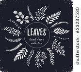 hand drawn branches collection. ... | Shutterstock .eps vector #633237530