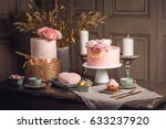 luxury wedding table with a...   Shutterstock . vector #633237920