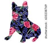 bulldog silhouette  vector ...   Shutterstock .eps vector #633238769