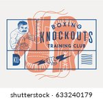 vector boxing concept of gloves ... | Shutterstock .eps vector #633240179