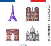 french landmark  buildings in... | Shutterstock .eps vector #633241520