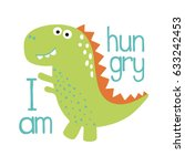 cute dino illustration. | Shutterstock .eps vector #633242453