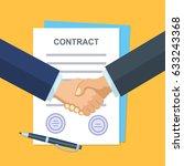business partner handshake deal ... | Shutterstock . vector #633243368