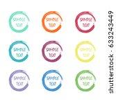 colorful art stroke frame set.... | Shutterstock .eps vector #633243449