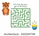 funny maze for kids with cute... | Shutterstock .eps vector #633244748