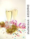 christmass shampagne | Shutterstock . vector #63324943