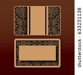 vector business card design... | Shutterstock .eps vector #633251138
