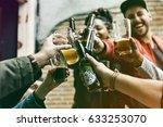 craft beer booze brew alcohol... | Shutterstock . vector #633253070