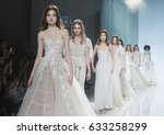 barcelona   april 27  models... | Shutterstock . vector #633258299