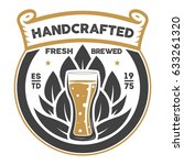 handcrafted beer brewery retro... | Shutterstock .eps vector #633261320