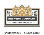 brewing company vintage... | Shutterstock .eps vector #633261380