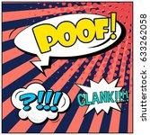 abstract creative concept comic ... | Shutterstock .eps vector #633262058