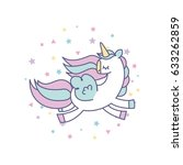drawing cute unicorn icon | Shutterstock .eps vector #633262859