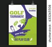 golf flyer vector illustration. ...   Shutterstock .eps vector #633265508