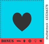 heart icon flat. simple...