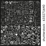 hand drawn food elements. set...   Shutterstock .eps vector #633271640