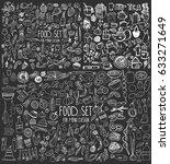 hand drawn food elements. set...   Shutterstock .eps vector #633271649