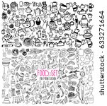 hand drawn food elements. set... | Shutterstock .eps vector #633271664