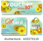 discount voucher template with... | Shutterstock .eps vector #633273110