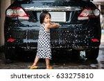 cute asian little girl washing...   Shutterstock . vector #633275810