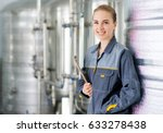 specialist at a water factory | Shutterstock . vector #633278438