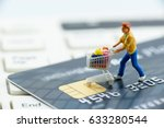 Miniature Figurine   A Shopper...