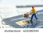 Miniature Figurine   A Shopper...
