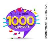 thank you 500 followers network ... | Shutterstock .eps vector #633282764