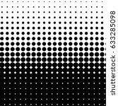 halftone dot pattern  element ... | Shutterstock .eps vector #633285098
