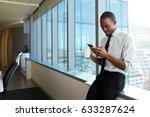 businessman checking messages... | Shutterstock . vector #633287624