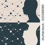 silhouette of a man head.... | Shutterstock . vector #633288080